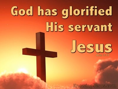 Acts 3:31 The God Has Glorified His Servant Jesus (yellow)